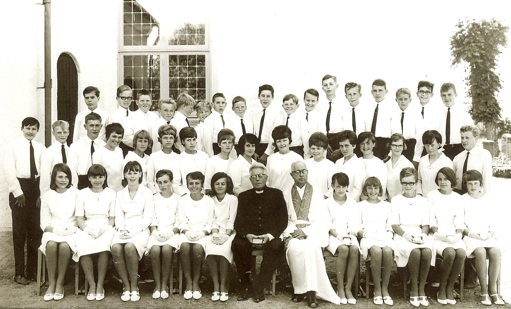 Konfirmation i Färlöv 1966